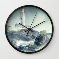 Wall Clock featuring Pigeon Point Lighthouse by Sheltered Spirits