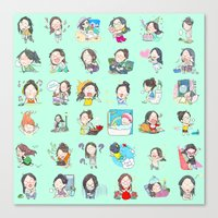 moonsia` Canvas Print
