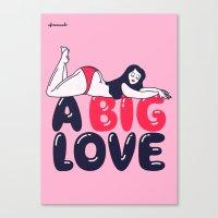 A Big Love Canvas Print