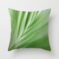 Leaf /  Noise Of Calm Throw Pillow