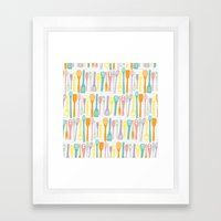 Candy Utensils Framed Art Print