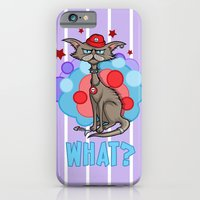 iPhone & iPod Case featuring Cool Cat in a Red Hat by SL Scheibe