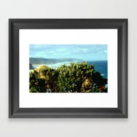 Wildflower In Front Of R… Framed Art Print