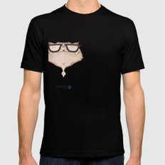 nebula Black Mens Fitted Tee SMALL