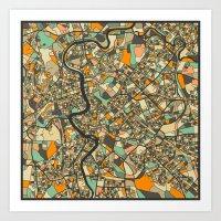 ROME MAP Art Print
