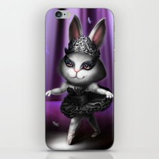 Black swan bunny iPhone & iPod Skin