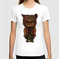 Hipster Cat Womens Fitted Tee White SMALL