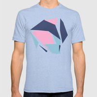 Dow Map Pink Mens Fitted Tee Tri-Blue SMALL