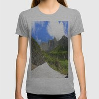 Peaks And Glaciers Womens Fitted Tee Athletic Grey SMALL