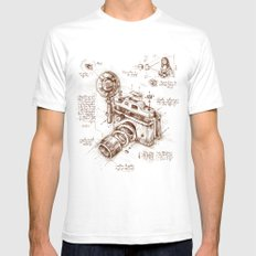 Moment Catcher Mens Fitted Tee White SMALL