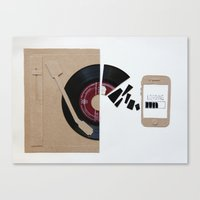 music today Canvas Print