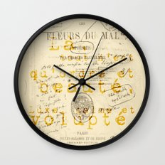 Les Fleurs Du Mal L'invi… Wall Clock