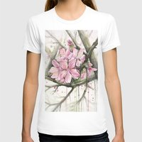 cherry blossom T-shirts featuring Cherry Blossom by Olechka