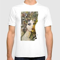 Fragment of a portrait Mens Fitted Tee White SMALL