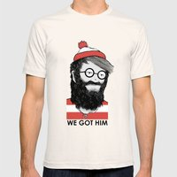 We Got Him Mens Fitted Tee Natural SMALL
