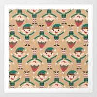 Day 18/25 Advent - Santa… Art Print