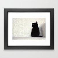 Sitting Kitty Framed Art Print