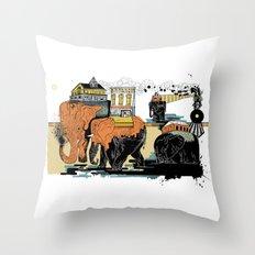 Oiliphants Throw Pillow