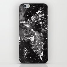 World Map Galaxy Black A… iPhone & iPod Skin