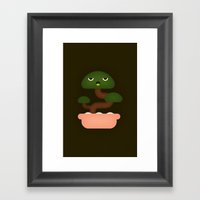 Bonsai Plant Framed Art Print