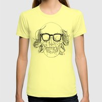 My best friend, Death Womens Fitted Tee Lemon SMALL