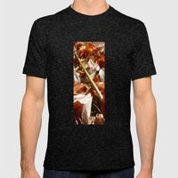 Flowers on a table  Mens Fitted Tee Tri-Black SMALL