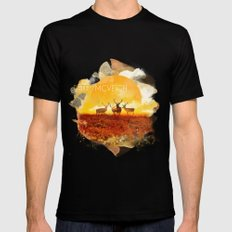 Sunset adaption | Peter McVeigh Black Mens Fitted Tee SMALL