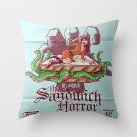 H.P. LoveKRAFT's  The Sa… Throw Pillow