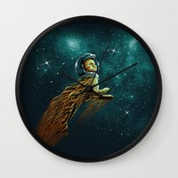 Catstronaut Wall Clock