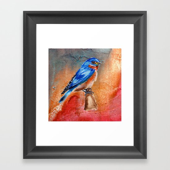 Blue Bird Framed Art Print By Tanduksapi Society6