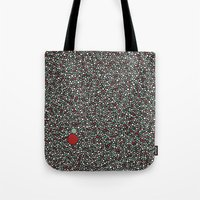 Blue W/Red Accent Dot Co… Tote Bag