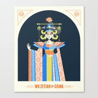 Wu Zetian Canvas Print