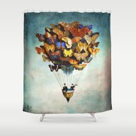 Shower Curtain featuring Fly Away by Christian Schloe