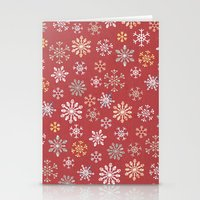 christmas snow Stationery Cards