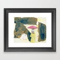 Floating: Rain Framed Art Print