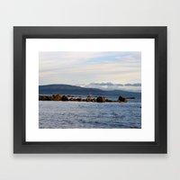 Sail Away On Galway Bay - Ireland Ocean Landscape - Blue Framed Art Print