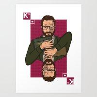 Walter white King of spades Art Print