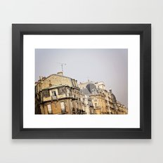 Parisian buildings Framed Art Print