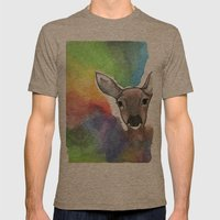 Deer Dream Mens Fitted Tee Tri-Coffee SMALL
