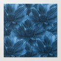 Blue Floral Abstract Canvas Print