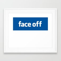 2010 - Face Off Framed Art Print