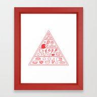 Food Pyramid Framed Art Print