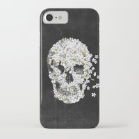death iPhone & iPod Cases featuring A Beautiful Death - mono by Terry Fan