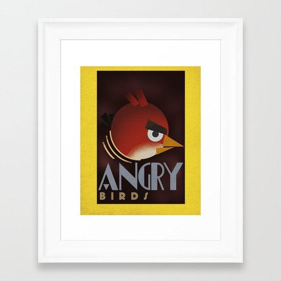 Carlu Spirit - Angry Birds Framed Art Print