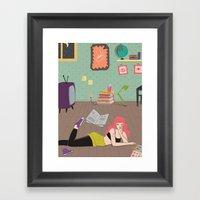 In Her Room Framed Art Print