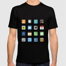 Phone Apps Black SMALL Mens Fitted Tee