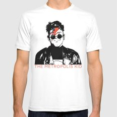 The Metropolis Kid SMALL White Mens Fitted Tee