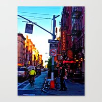Sun Goes Down  in the City Canvas Print
