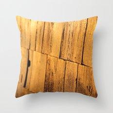 Golden Shingles  Throw Pillow