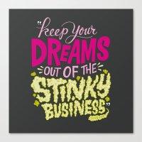 Stinky Business Canvas Print